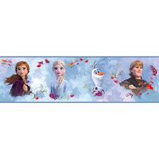 Disney Frozen 2 Peel Stick Wallpaper Border Removable Kids Room Decor Border Walmart Com Walmart Com