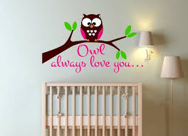 Owl Always Love You Vinyl Wall Decal For Boy Or Girl Baby Nursery Room Wall Decals Decor Boy Or Girl Room Jungle Zoo Animals Vinyl Wall Decals Wall Decalsvinyl Wall Aliexpress