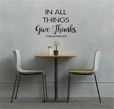 In All Things Give Thanks Wall Lettering Mural Vinyl Decal Bible Verse Ebay
