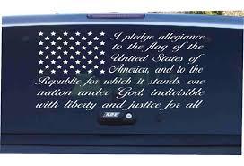 American Flag Pledge Of Allegiance Vinyl Decal Sticker Car Truck Suv Window Sticker Decals Wish