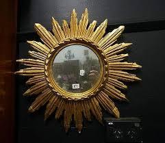 vintage carved gilded wooden sunburst