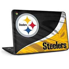 Skinit Decal Laptop Skin For Omen 15in Officially Licensed Nfl Pittsburgh Steelers Black Blast Design