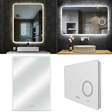 led wall mounted backlit mirror
