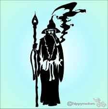 Wizard Or Warlock Sticker Made From Long Lasting Colourfast Vinyl