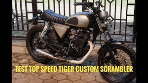 honda tiger custom srambler test top
