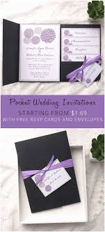 purple wedding invitations kits