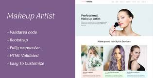 makeup artist responsive template by