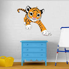 Amazon Com Style Apply Baby Tiger Wall Decal Sticker Wall Sticker Vinyl Wall Art Home Decor Wall Mural Sd3085 16x14 Home Kitchen