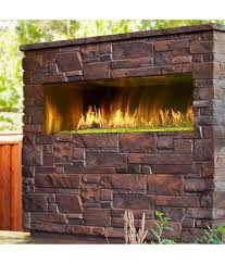 outdoor vent free linear gas fireplace