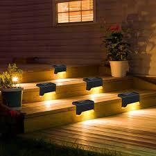 Solar Fence Lights Led Solar Lamp Path Stair Outdoor Waterproof Wall Light Rechargeable Landscape Lamp Solar Light Solar Lamps Aliexpress