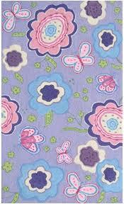 Rug Market Kids Floral 71178 Purple Spring Time Purple Pink Blue Area Rug Rugs A Bound