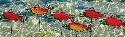 glass fish garden art by isaiah w heyer