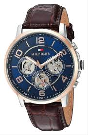 tommy hilfiger blue dial silver case