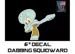 Squidward Dabbing Sticker Decal Funny Jdm Drift Dab Hoon Race Car Spongebob