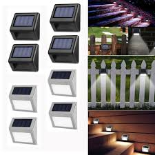 4 Pack Solar Led Outdoor Accent Fence Wall Lights By Paradise For Sale Online Ebay