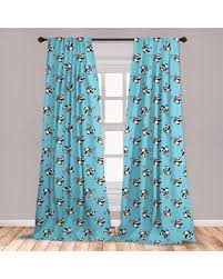 Remarkable Deals On Ambesonne Soccer Curtains Panda Player Kicking A Ball Kids Boys Design Fun Animal Pattern Window Treatments 2 Panel Set For Living Room Bedroom Deco