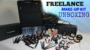 freelance makeup kit unboxing mac