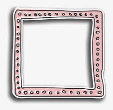 frame border peach pink pastel overlay