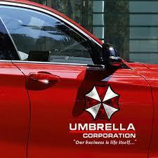 Decals Emblems License Frames 1x Umbrella Corporation Car Decal Pet Sticker Door Scratch Car Decor Accessories Smaitarafah Sch Id