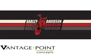 Vehicle Graphics Rear Window Graphics Harley Davidson Series Triple Stripe Motorcycle Logo Color Truck Or Suv Rear Window Graphic