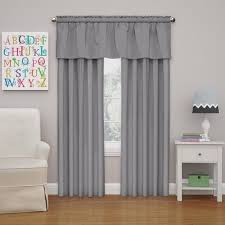 Eclipse Kids Microfiber Blackout Window Valance In Grey 42 In W X 18 In L 15503042x018gre The Home Depot