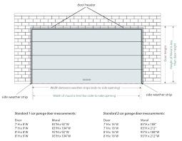 how wide is a standard garage door