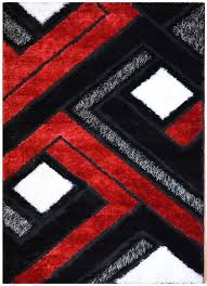 black and red bathroom rugs red