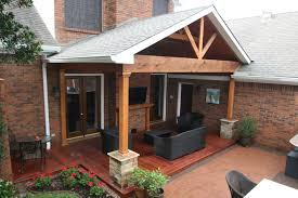 nice hardwood deck and gable roof patio