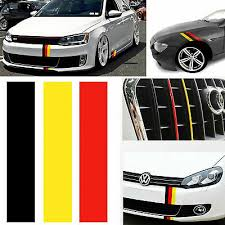 10 Germany Flag Color Stripe Decal Sticker For Audi Bmw Mercedes Volkswagen Car Ebay