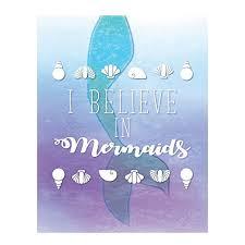 I Believe In Mermaids 05x07 Inch Print Girl Room Decor Room Decor For Girls Mermaid S Decor Kid S Wall Print Baby B073rcw21d