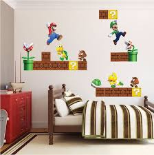 Super Mario Bros Wall Decal Video Game Wall Decal Murals Primedecals In 2020 Mario Room Super Mario Room Wall Mural Decals