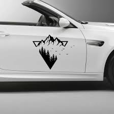 Newest Mountain Stickers On The Car Beautiful Car Stickers Vinyl Decal Personality Waterproof Accessories Vinyl Car Stickers Aliexpress