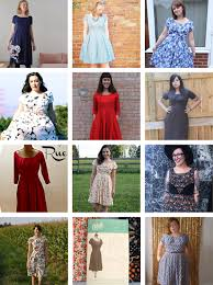 a whole bunch of finished rue dresses