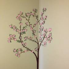 Dogwood Tree Tough Yet Delicate Nurturing And Beautiful Everything I Want My Daughter To Be Someday Dogwood Trees Wall Painting Painting Projects