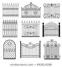 Ornate Smart Forged Iron Gateaccurate Drawing Stock Vector Royalty Free 5136535 Shutterstock Iron Gate Design Wrought Iron Gate Designs Steel Gate Design