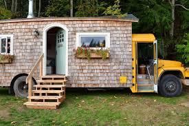 convert a school bus into a tiny house
