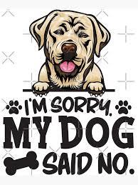 Labrador Retriever Stickers I M Sorry My Dog Said No Greeting Card By Thinkpup Redbubble