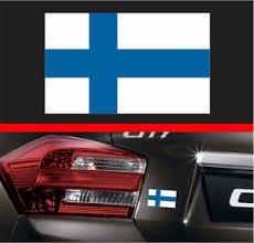 4 Finnish Flag Vinyl Decal Bumper Sticker Finland Fin Fi Euro Macbook Car Decal Ebay