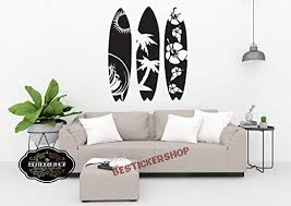 Amazon Com Bestickershop Surfing Surf Wall Decals Surfer Wall Decals Surfing Sports Decals Surfboard Wall Decals Waves Wall Decals 1413re Home Kitchen