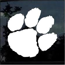 Clemson Tigers Paw 2 Window Decal Sticker Custom Sticker Shop