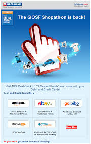 gosf offer on hdfc bank card 10