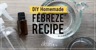 diy homemade febreze recipe