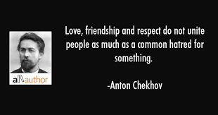 love friendship and respect do not unite quote