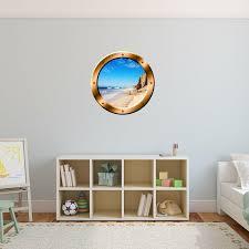 East Urban Home Beach Porthole 3d Ocean Wall Decal Reviews Wayfair