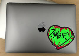 Zombie Heart Decal For Cars Laptops And More Use Etsy
