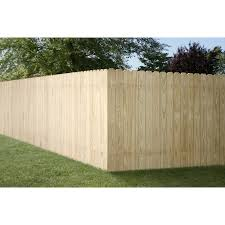 4 Ft H X 8 Ft W Pressure Treated Southern Yellow Pine Dog Ear Fence Panel In The Wood Fence Panels Department At Lowes Com