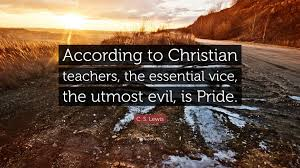 """c s lewis quote """"according to christian teachers the essential"""