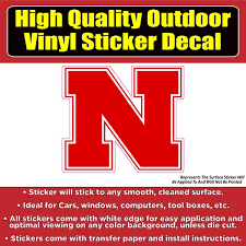 Nebraska Corn Huskers N Football Vinyl Car Window Laptop Bumper Sticke Colorado Sticker