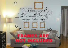 Personalised Family Name Wall Art Quote Phrase Sticker Mural Decal For Sale Online