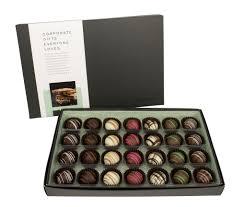 sleeve 28 pc chocolate truffles gift box